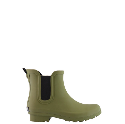 CHELSEA MATTE OLIVE WOMEN'S RAIN BOOTS by Roma Boots