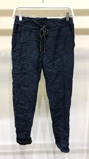 JOGGERS - NAVY BLUE SUEDE