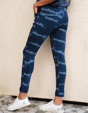 JOGGERS - PAINT BRUSH BLUE CRINKLE