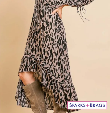 WILD ABOUT YOU! ANIMAL PRINT HIGH LOW DRESS