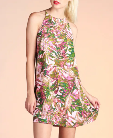 JUNGLE LEAF SHIFT DRESS