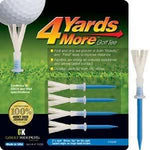 4 Yards More Golf Tee 3 1/4 Inch 4 pack