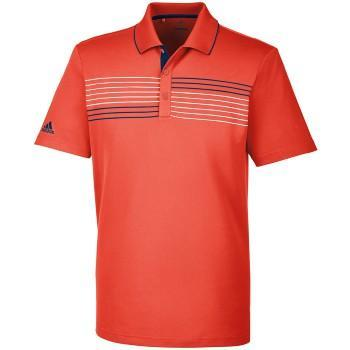Adidas Men's Chest Stripe Polo Red - CF9345 Golf Stuff - Save on New and Pre-Owned Golf Equipment XL