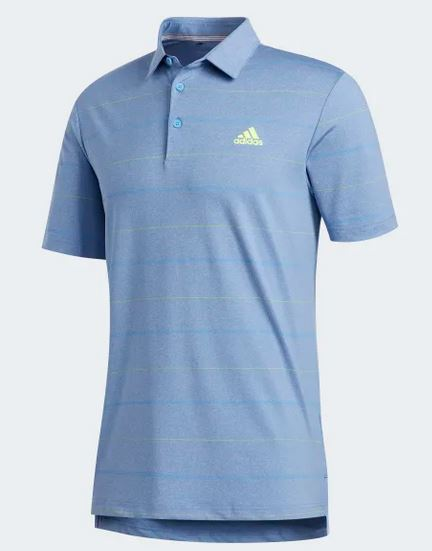 Adidas Ultimate365 Men's Heathered Polo FJ9953 Golf Stuff XS