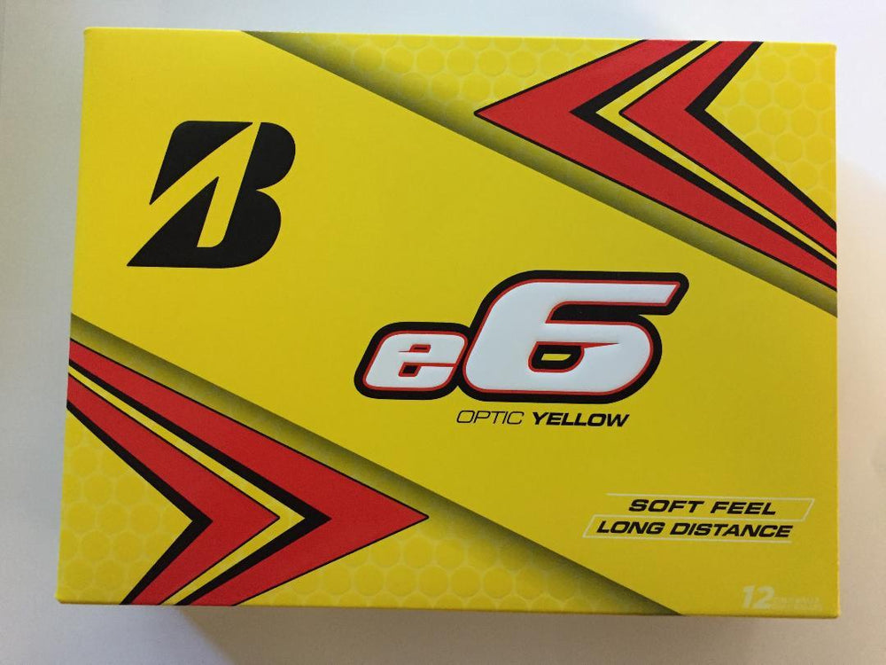 Bridgestone E6 Optic Yellow Golf Balls '20 Golf Stuff - Low Prices - Fast Shipping - Custom Clubs Box/12 Optic Yellow