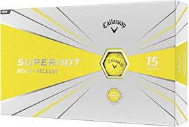 Callaway Superhot Bold 2020 Golf Balls Golf Stuff - Save on New and Pre-Owned Golf Equipment Yellow Box/15