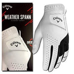 Callaway Weather Spann Golf Glove Mens White Golf Stuff - Save on New and Pre-Owned Golf Equipment Left (for right handed player) Small