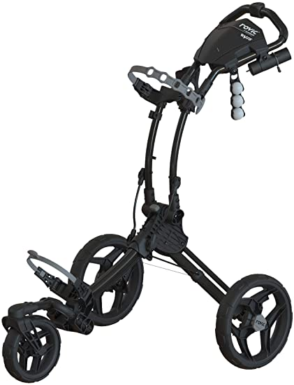 Clicgear Rovic 3 Wheel Push Cart RV1S Golf Stuff - Save on New and Pre-Owned Golf Equipment Charcoal Frame/Black Wheel