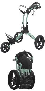 Clicgear Rovic 3 Wheel Push Cart RV1S Golf Stuff - Save on New and Pre-Owned Golf Equipment Mint Frame/Black Wheel