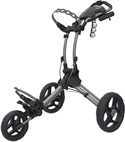 Clicgear Rovic 3 Wheel Push Cart RV1S Golf Stuff - Save on New and Pre-Owned Golf Equipment Silver Frame/Black Wheel