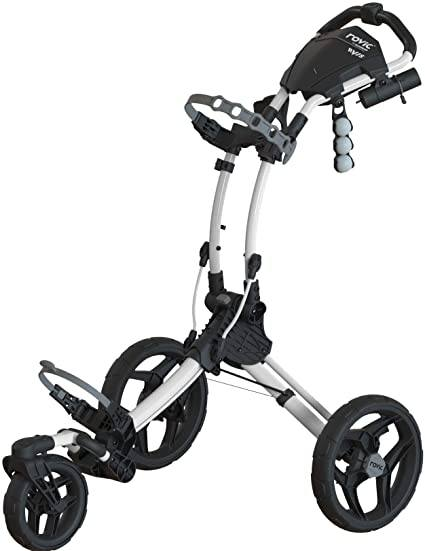 Clicgear Rovic 3 Wheel Push Cart RV1S Golf Stuff - Save on New and Pre-Owned Golf Equipment White (Arc) Frame/Black Wheel