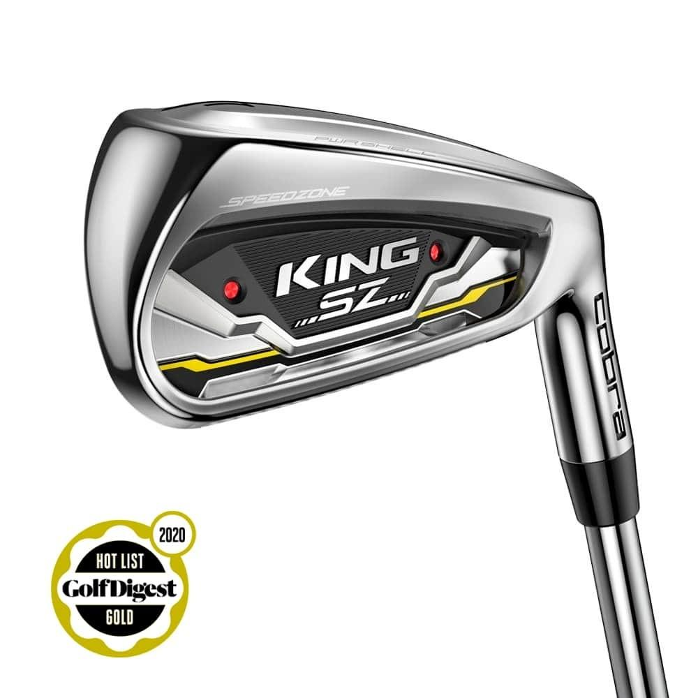 Cobra King SZ Iron Set Golf Stuff - Low Prices - Fast Shipping - Custom Clubs Right 4-PW Steel KBS Tour 90 Stiff