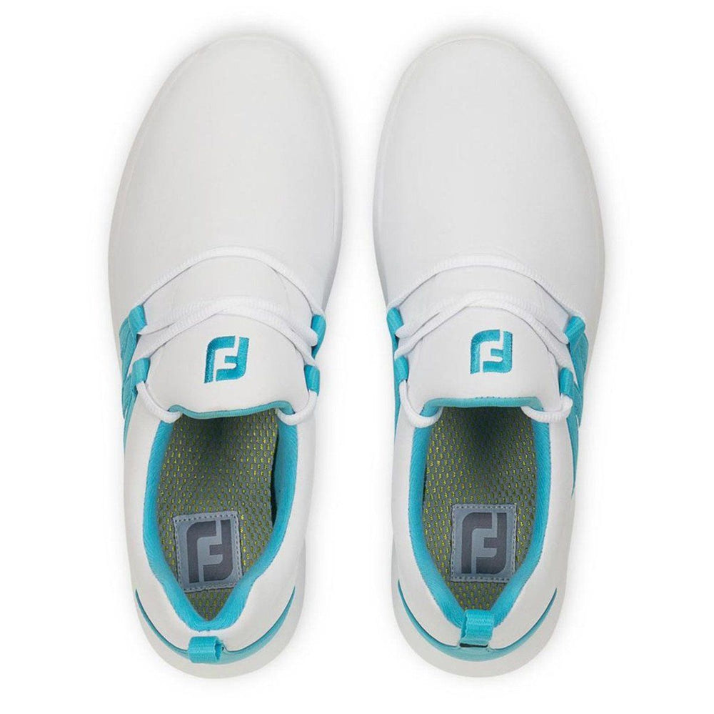 FootJoy Leisure Slip On Women's Golf Shoes White/Blue 92908 Golf Stuff