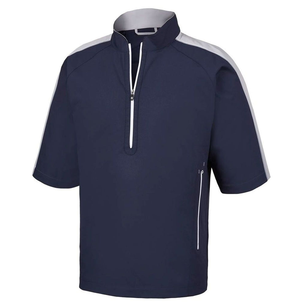 Footjoy Sport Short Sleeve Windshirt 32617 Golf Outerwear Golf Stuff - Save on New and Pre-Owned Golf Equipment Large Navy/Silver