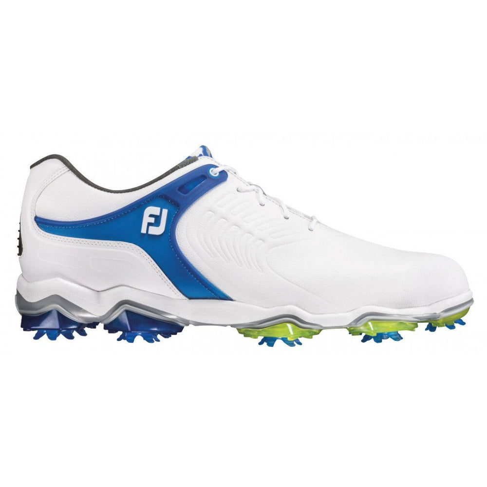 Footjoy Tour-S 55301 All White/Blue Mens Golf Shoes Golf Stuff - Save on New and Pre-Owned Golf Equipment 8W