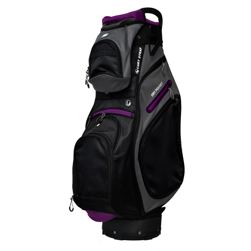 Golf Trends Country Club Cart Bag Golf Stuff Black/Charcoal/Purple