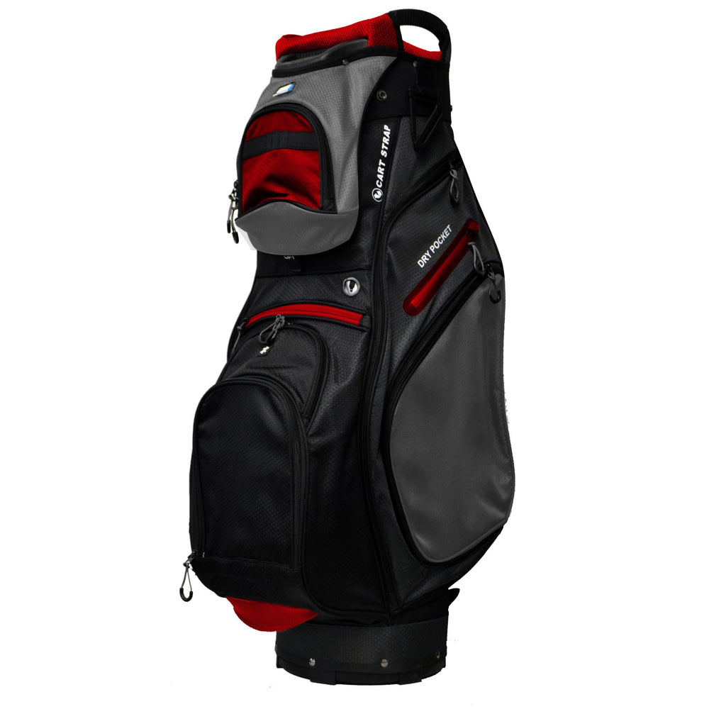 Golf Trends Country Club Cart Bag Golf Stuff Black/Charcoal/Red