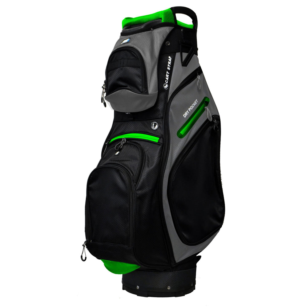 Golf Trends Country Club Cart Bag Golf Stuff Black/Grey/Lime