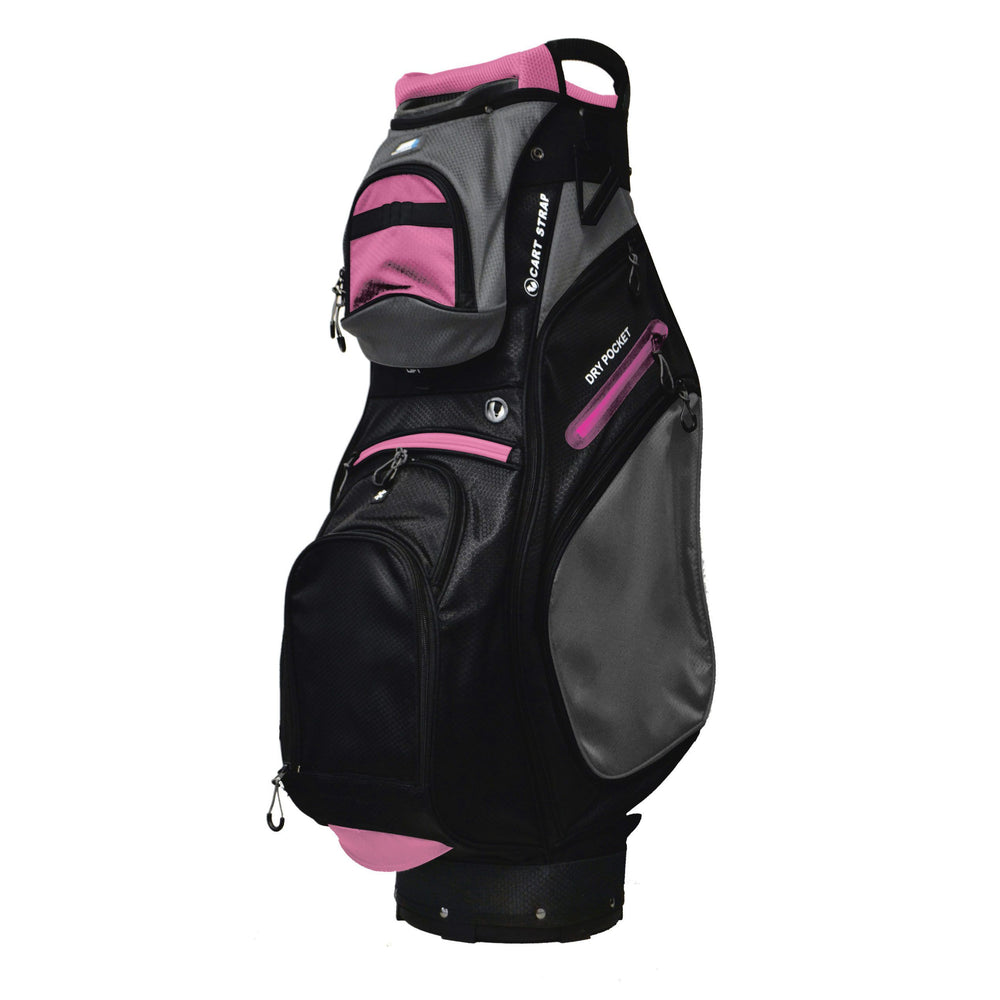 Golf Trends Country Club Cart Bag Golf Stuff Black/Grey/Pink