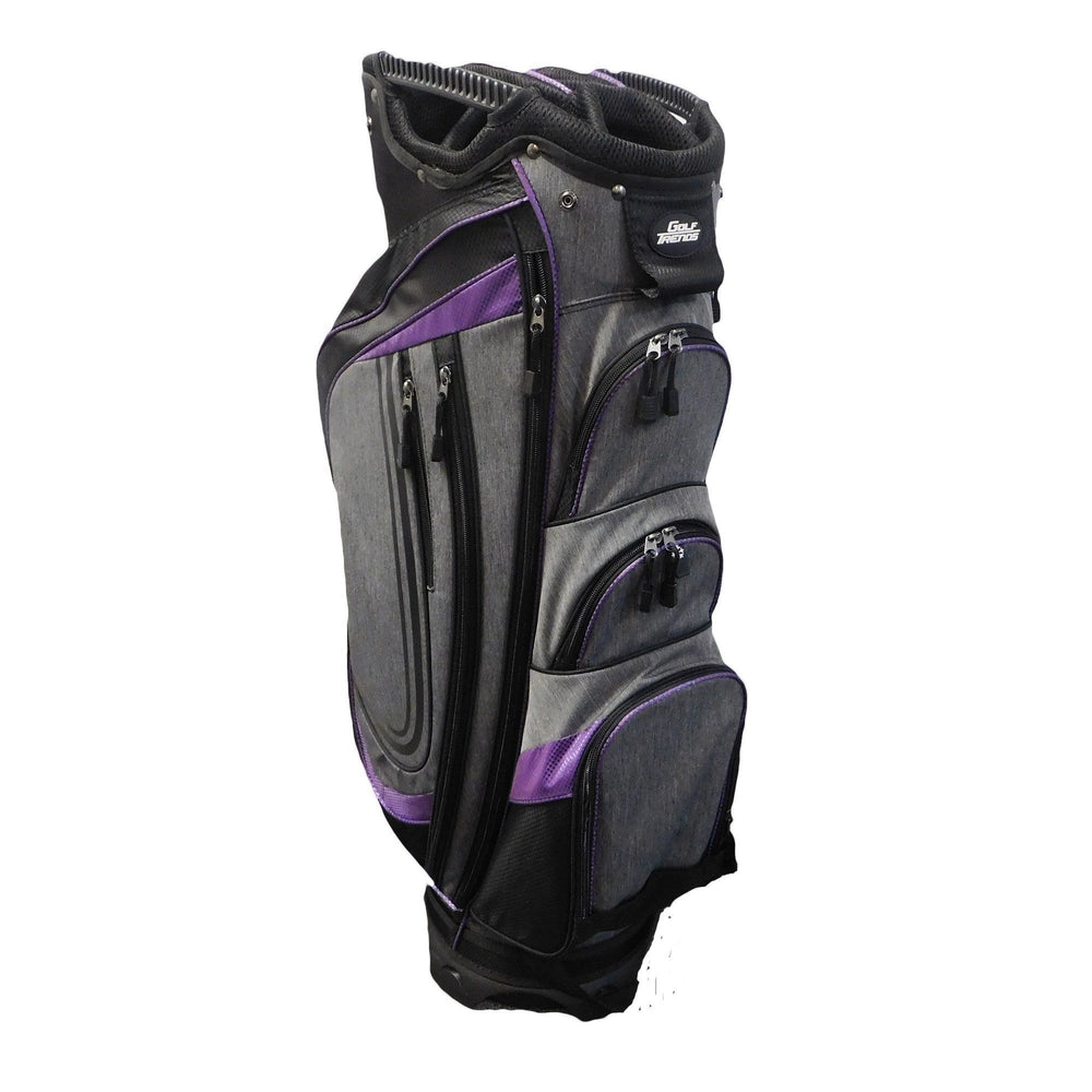 Golf Trends Cruiser Cart Bag Golf Stuff - Save on New and Pre-Owned Golf Equipment Blk/Char/Purple