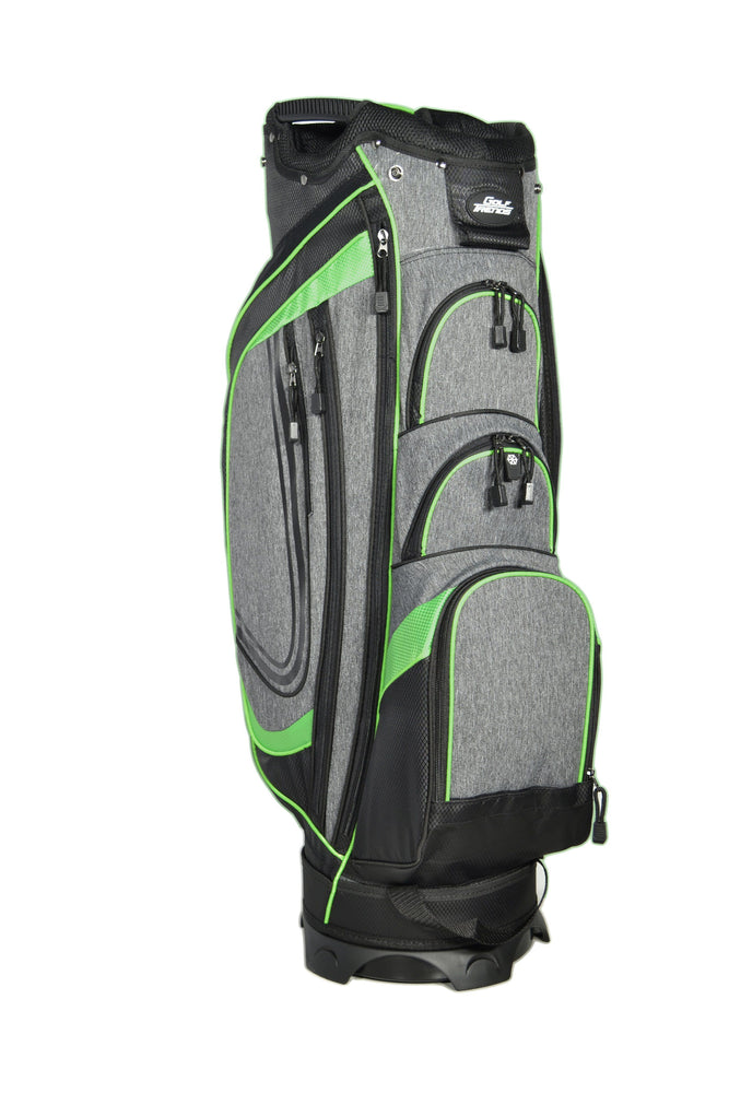 Golf Trends Cruiser Cart Bag Golf Stuff - Save on New and Pre-Owned Golf Equipment Blk/Grey/Lime
