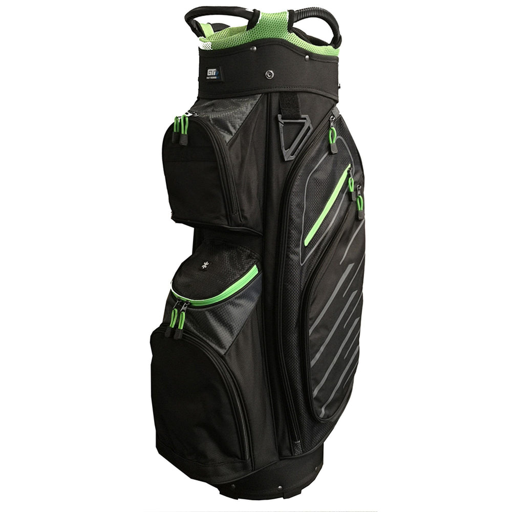 Golf Trends Fairway Cart Bag Golf Stuff Black/Grey/Lime