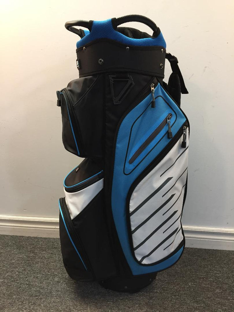 Golf Trends Fairway Cart Bag Golf Stuff Black/Light Blue/White