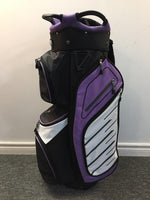 Golf Trends Fairway Cart Bag Golf Stuff Black/Purple/White