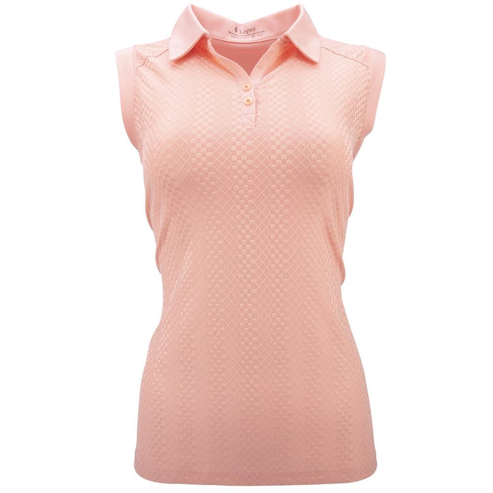 Lopez Grace Sleeveless Shirt L420106 079 Buff Golf Stuff - Save on New and Pre-Owned Golf Equipment Medium