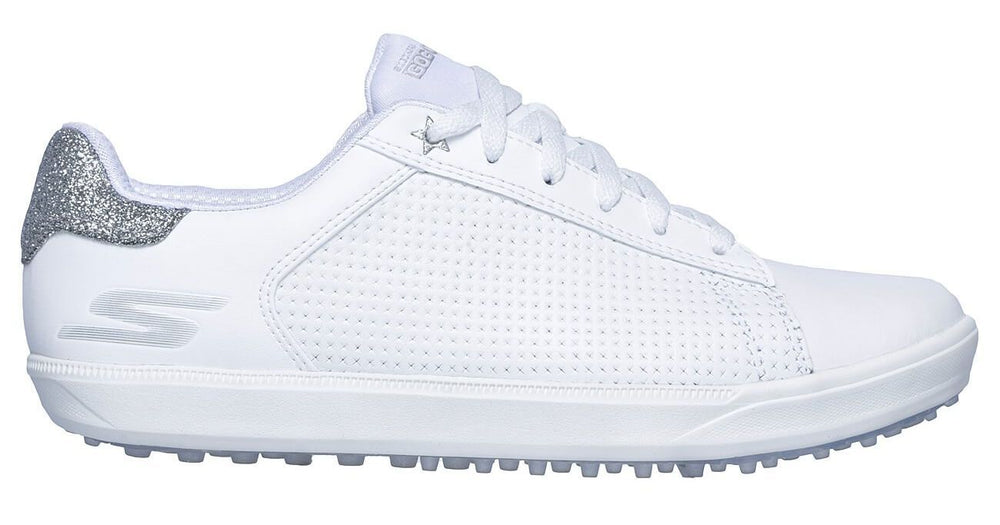 Skechers Drive 4 Shimmer 14882 Womens Golf Shoes White/Silver Golf Stuff - Save on New and Pre-Owned Golf Equipment