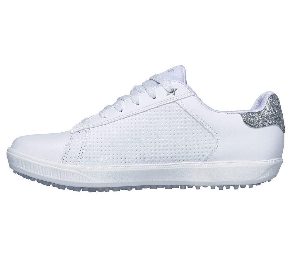 Skechers Drive 4 Shimmer 14882 Womens Golf Shoes White/Silver Golf Stuff - Save on New and Pre-Owned Golf Equipment 9.5M