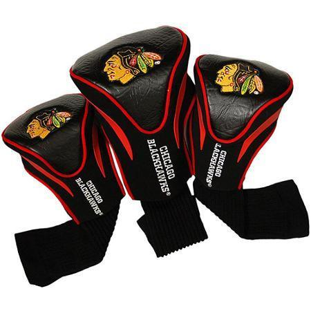 Team Golf NHL Set of 3 Head Covers Accesories Golf Trends Chicago Black Hawks