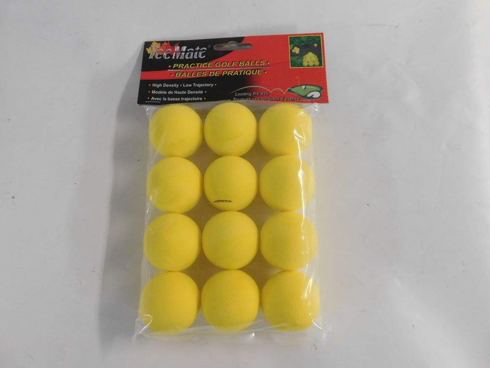 TeeMate 12Pk Yellow Foam Practice Balls Golf Stuff - Save on New and Pre-Owned Golf Equipment