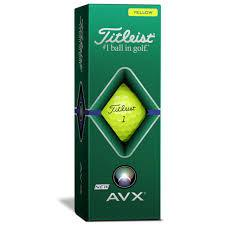 Titleist AVX Golf Balls '20 Golf Stuff - Low Prices - Fast Shipping - Custom Clubs Slv/3 Yellow