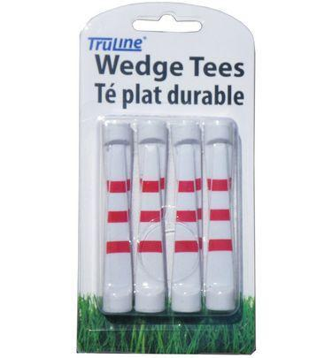 Wedge Tee 8pk Golf Tees TeeMate White/Red