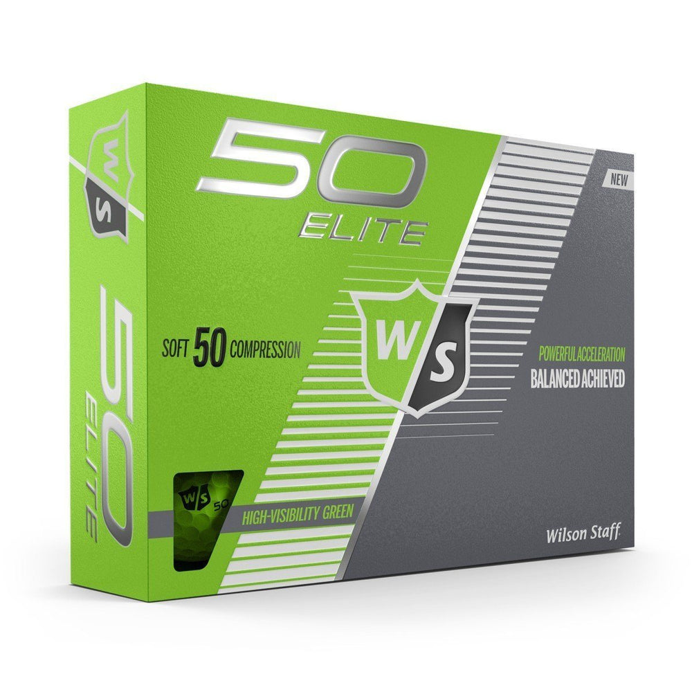 Wilson Staff Fifty Elite Colored Golf Balls Golf Stuff - Save on New and Pre-Owned Golf Equipment Lime Green Box/12