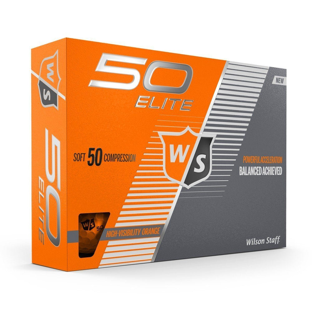 Wilson Staff Fifty Elite Colored Golf Balls Golf Stuff - Save on New and Pre-Owned Golf Equipment Orange Box/12