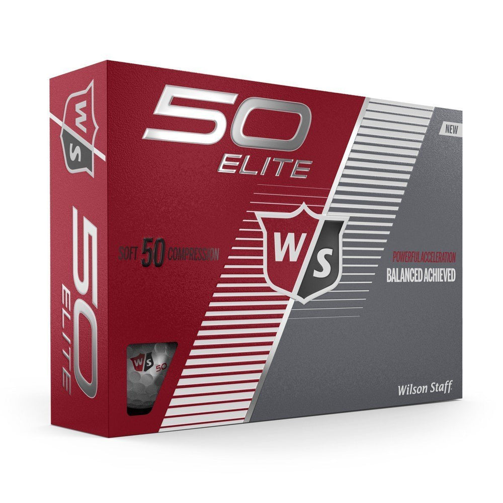 Wilson Staff Fifty Elite Colored Golf Balls Golf Stuff - Save on New and Pre-Owned Golf Equipment White Box/12