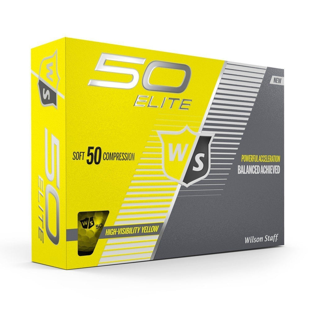 Wilson Staff Fifty Elite Colored Golf Balls Golf Stuff - Save on New and Pre-Owned Golf Equipment Yellow Box/12