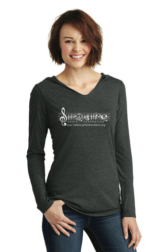 Women's Long Sleeve T-Shirt with Hood, Available in 3 Colors