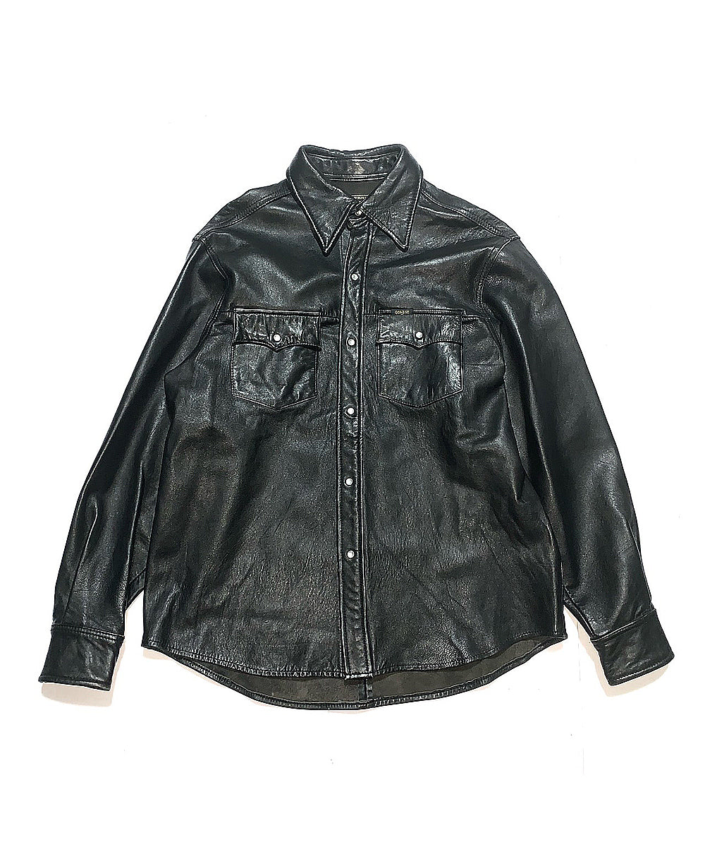 Caw Leather Shirt