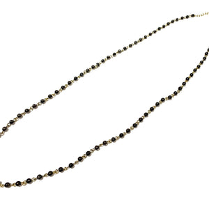 Rosary Necklace  Navy