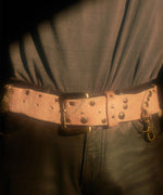 Unborn Calf Design Belt