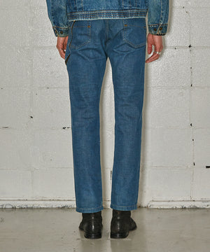 Zip Design Denim  Pants
