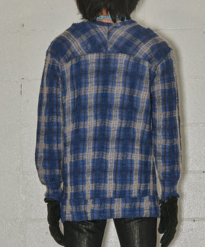 Total Pattern Check Wool Knit