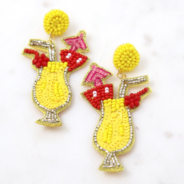 Beaded Cocktail Earring