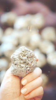 gold pyrite crystal