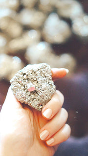 gold pyrite crystals