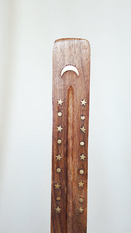 Moon + Stars Wooden Incense Holders
