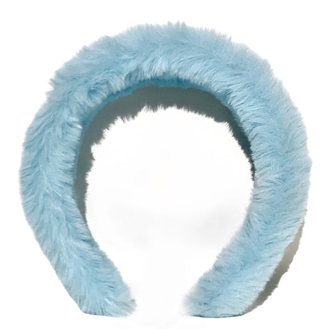 Plush Fuzzy Headband - Sky Blue